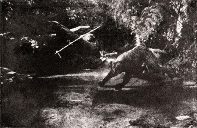 Penemuan awal patung siluman macan di Pedalaman Karasdendam Tanah Runcuk